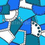 Patchwork E Botões Design de padrão vetorial sem costura
