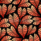 Feuer-Blätter Musterdesign