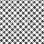 Monochrom-Checker-Muster Vektor Ornament