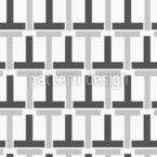 Formas em T Design de padrão vetorial sem costura