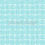 Spiralförmiges Labyrinth Rapportiertes Design