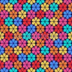 Stilisierte Kamillen Nahtloses Vektor Muster