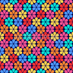 Stylised Camomiles Seamless Vector Pattern