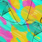Formas de onda rabiscado Design de padrão vetorial sem costura