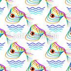 Abstrakte Fische Designmuster