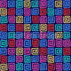 Verificador Espiral Design de padrão vetorial sem costura