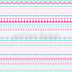 Verzierte Linien Muster Design