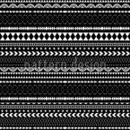 Dunkle Ethno Streifen Musterdesign