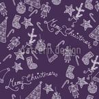 Frohe Weihnachten In Lila Vektor Ornament