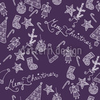 Merry Christmas In Lilaq Vector Ornament