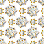 Snowing Mandalas Vector Pattern