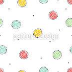 ねじれた花 シームレスなベクトルパターン設計
