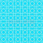 Lattice Estrella Tradicional Design de padrão vetorial sem costura