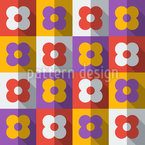 Flat Icon Flower Pattern Design