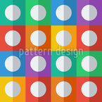 Flat Icon Circle Pattern Design