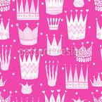 Simple Patterned Crowns Seamless Vector Pattern Design