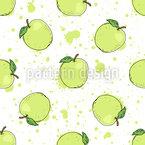 Leckerer Apfel Nahtloses Vektormuster