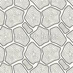 Stilisierte Mineralien Nahtloses Muster