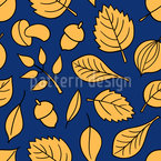 Leaf In The Forest Pattern Design
