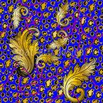 Opulenter Leopard Nahtloses Vektor Muster