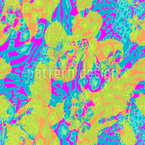 Leoparden-Blume Nahtloses Vektormuster