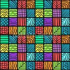 Variedad de azulejos Estampado Vectorial Sin Costura