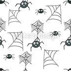 Gruselige Spinnen Nahtloses Vektormuster