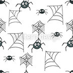 Spooky Spiders Seamless Vector Pattern Design