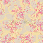 Hawaiian Flower Seamless Vector Pattern Design