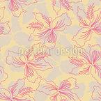 Hawaiianische Blume Nahtloses Vektormuster