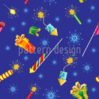 Fireworks And Firecrackers Seamless Vector Pattern Design