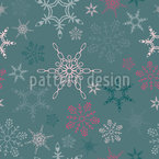 Snowflake Paradise Repeating Pattern