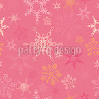 Snowflake Love Repeat Pattern