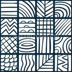 Variación de azulejos Estampado Vectorial Sin Costura