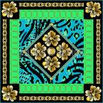 Barockblumen Nahtloses Vektormuster