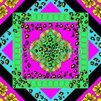 Chains Meet Leopard Seamless Vector Pattern Design