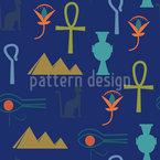 Antikes Ägypten Nahtloses Vektormuster
