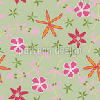 Flower Field In Summer Seamless Vector Pattern Design