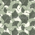 We Love Ginkgo Leaves Seamless Vector Pattern