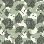 Wir Lieben Ginkgoblätter Nahtloses Vektor Muster