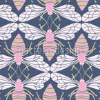 Bees Seamless Vector Pattern Design
