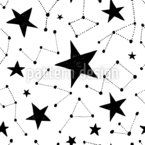 Constellations And Stars Vector Pattern
