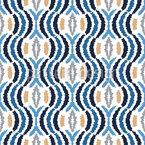 抽象ウェーブ シームレスなベクトルパターン設計