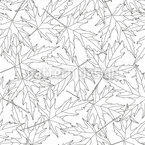 Contoured Leaves Seamless Vector Pattern Design