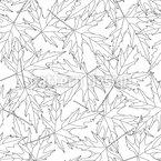 Konturierte Blätter Nahtloses Vektormuster