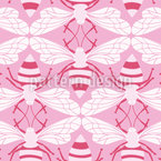 Bee-Love Seamless Vector Pattern Design