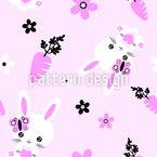Kawaii Baby Bunny Vector Ornament