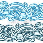 Curly Lines Seamless Vector Pattern