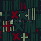 Mathematical Symbols Seamless Vector Pattern Design