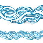 Traum Einer Welle Nahtloses Vektor Muster